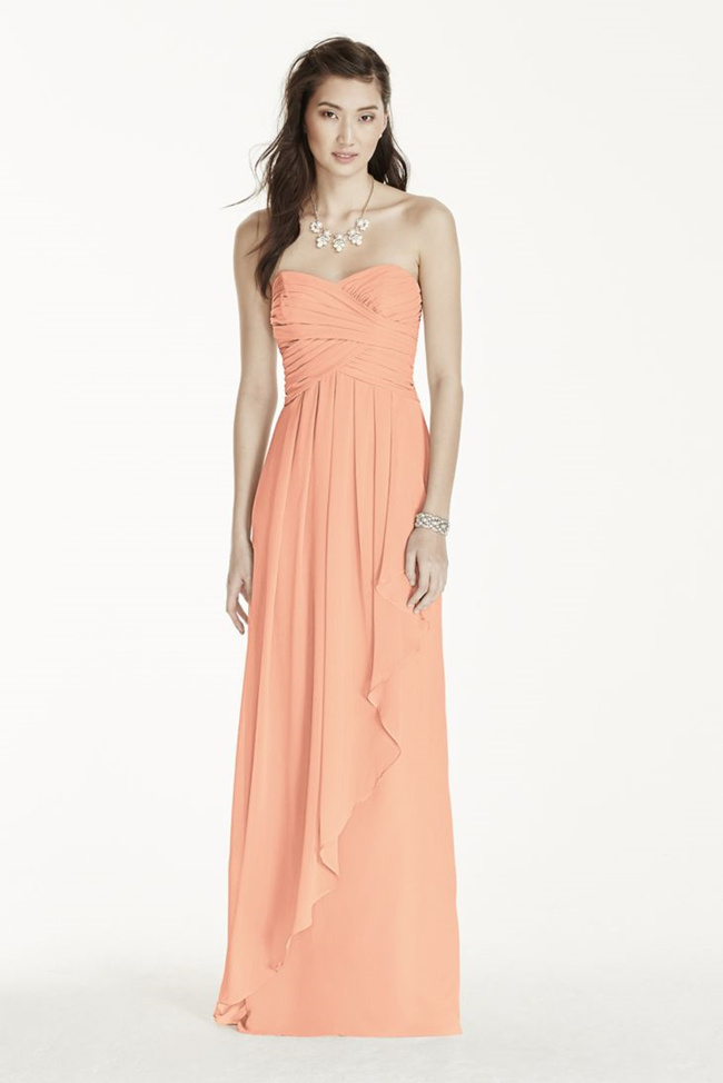 Pastel Bridesmaids: Peach Bridesmaid Dresses - EverAfterGuide