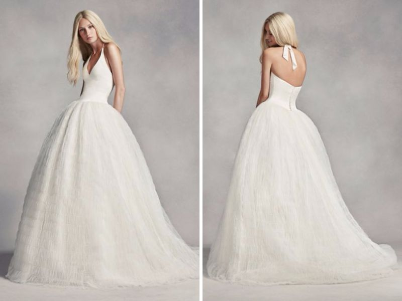 Vera Wang Halter Tulle Wedding Dress