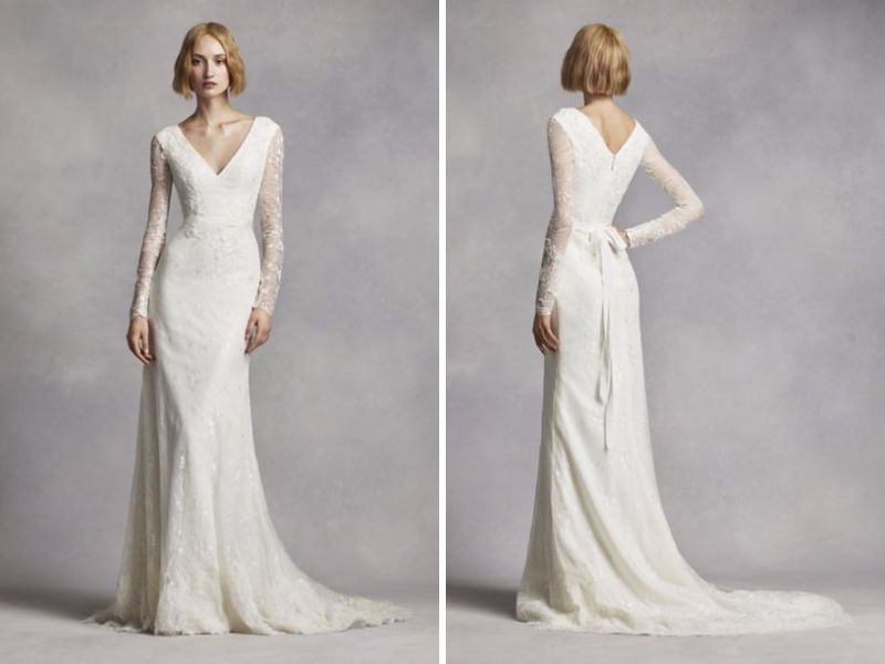 Vera Wang Long Sleeve Lace Wedding Dress