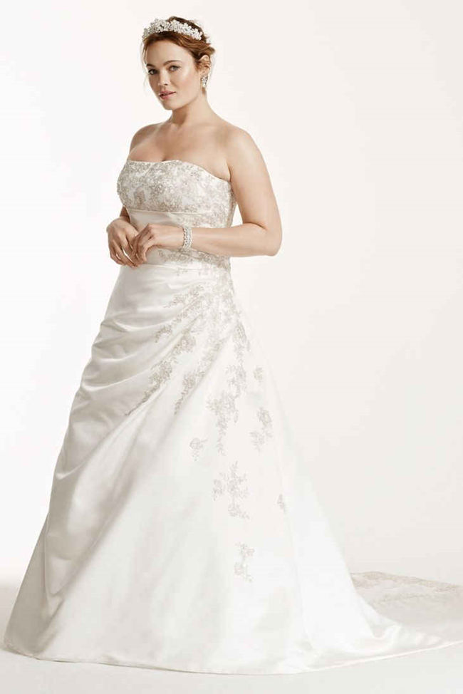 Strapless Wedding Dress With Lace Up Back