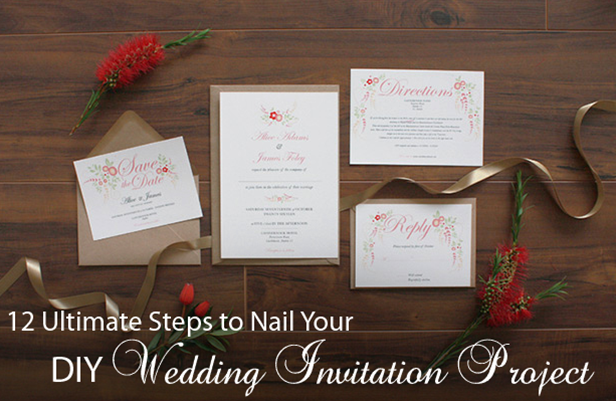 Diy wedding invitation 12 steps to nail it everafterguide diy wedding invitation a step by step guide junglespirit Gallery