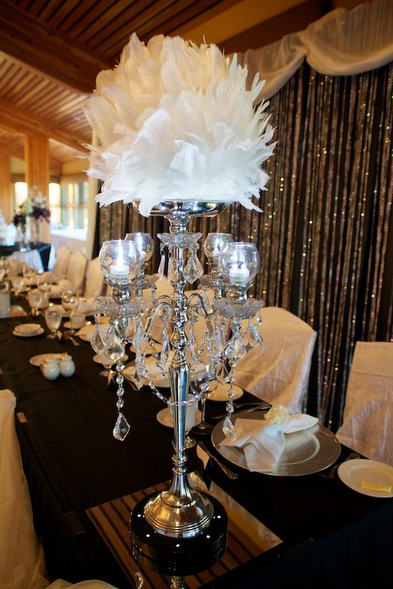 For modern brides 25 fabulous wedding centerpieces without flowers vintage feather sphere centerpiece junglespirit Images