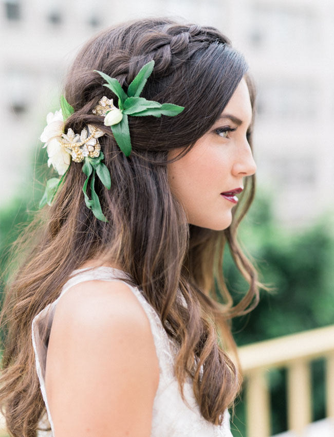 20 gorgeous wedding hairstyles with flowers everafterguide white and green mightylinksfo