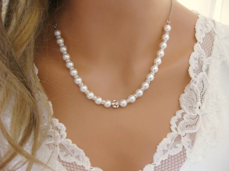 stock floral necklace image white wedding photo pearls download pearl background of