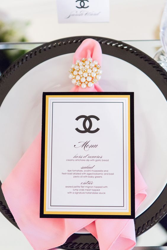 Party like a french diva how to plan a fabulous bridal shower with add elements such as poodles black silhouettes chanel perfume bottles black baroque chandeliers and the mandatory eiffel tower to make sure your theme is filmwisefo