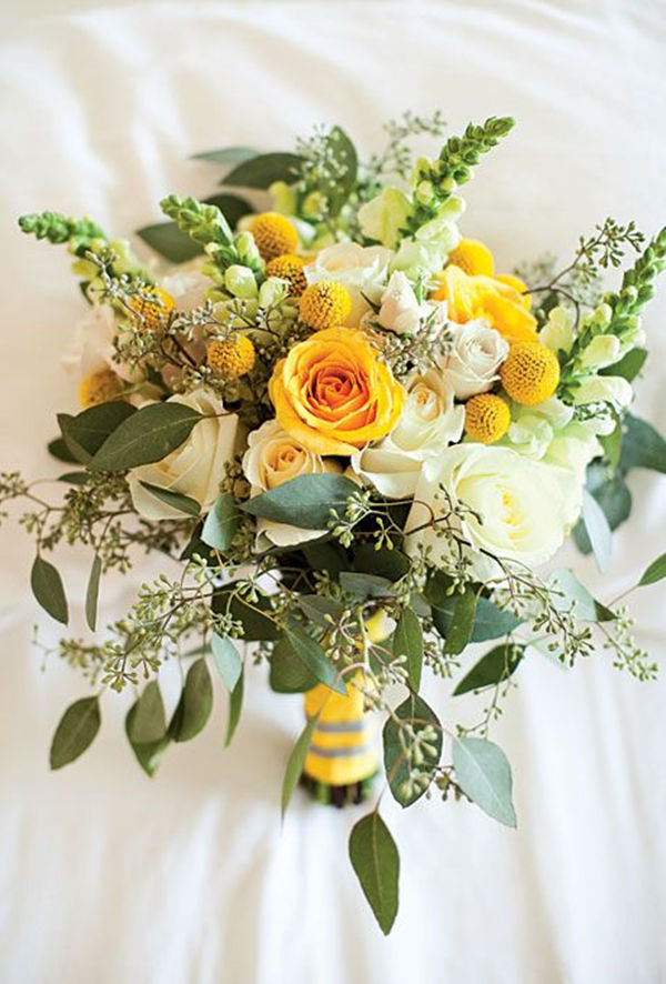 Bridal bouquets gallery bouquets in every color everafterguide yellow bridal bouquet mightylinksfo