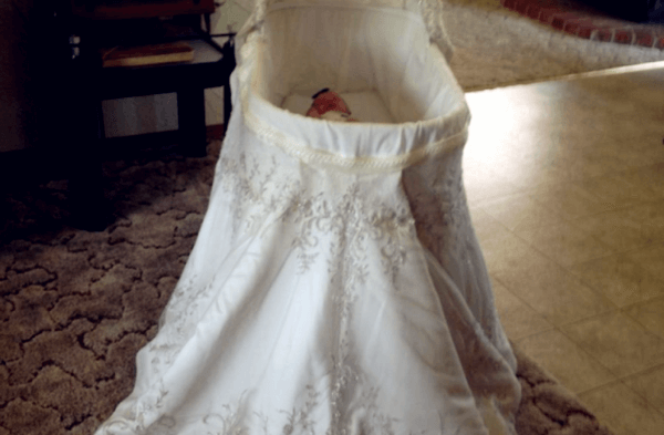 What If We Tell You That You Can Make A Baby Bassinet From Your Wedding Gown?  Browse Internet Or Use Your Imagination To Form Some Sparkling Memories For  ...