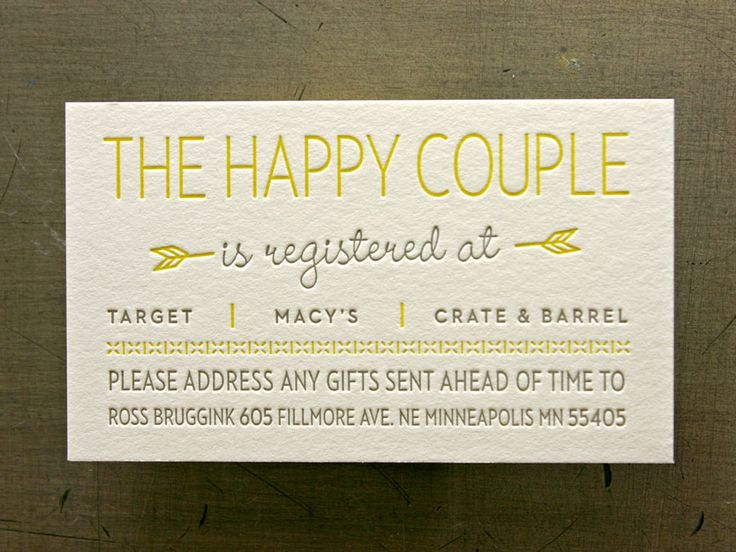 registry cards for wedding etiquettes to follow everafterguide