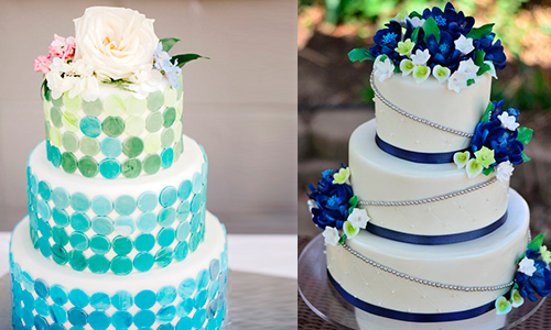 Fresh and modish blue green wedding colors everafterguide the cake junglespirit Choice Image