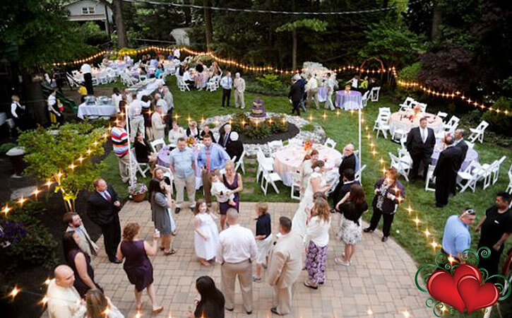 Small Wedding Reception Ideas At Home Part - 22: Home Weddings Can Be Very Comfortable And Intimate, However You Will Need  To Find All Of Your Own Rentals And Services.