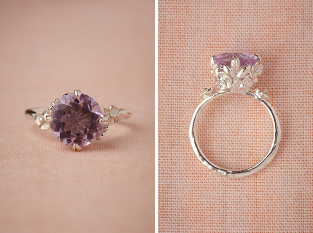pink amethyst posy ring - Non Diamond Wedding Rings