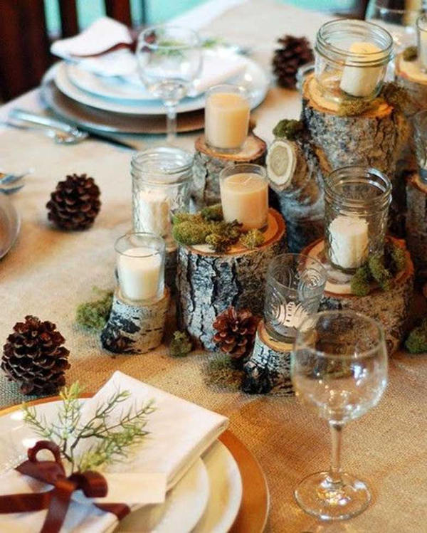 For modern brides 25 fabulous wedding centerpieces without layered rustic centerpiece junglespirit Choice Image