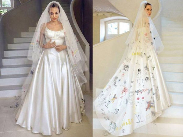 An Unconventional Bride - Angelina Jolie\'s Wedding Dress ...