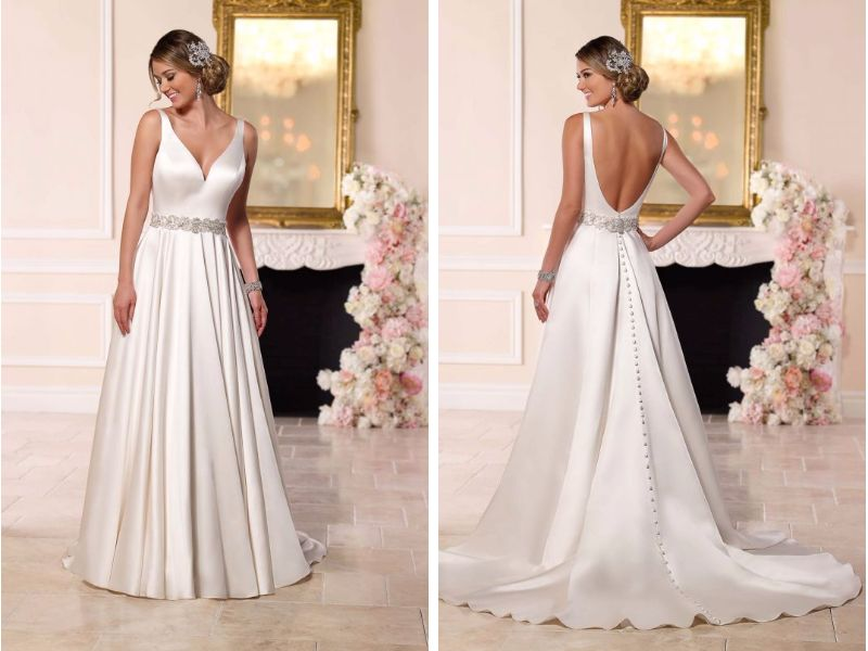 A Line Tulle Simple Wedding Dresses With Beading Off The: 33 Trendiest A Line Wedding Dresses