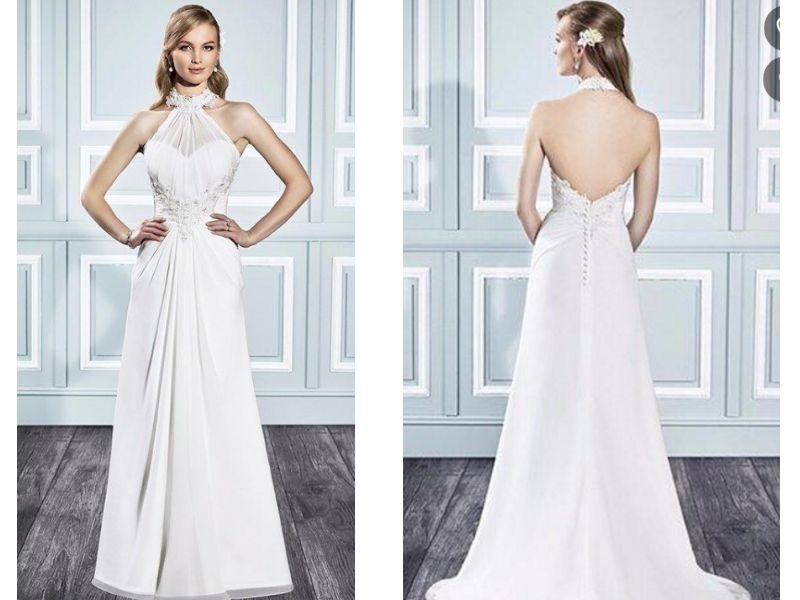 Halter Wedding Dresses Basics and Recommendations - EverAfterGuide