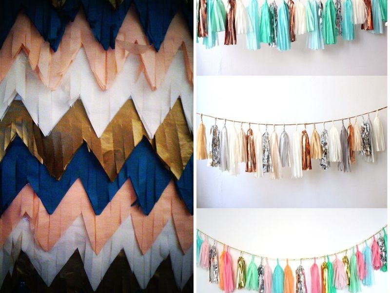 Wall Decor Tissue Paper : Best wedding wall decoration ideas everafterguide