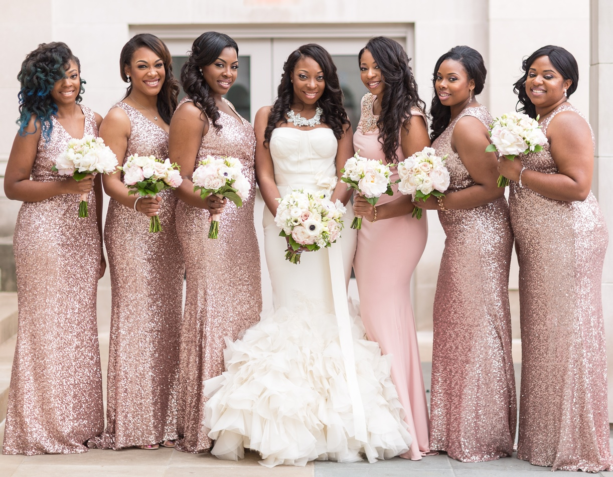 From warm shades to jewel tones best wedding colors for dark skin the bridesmaids and the flower girls ombrellifo Gallery