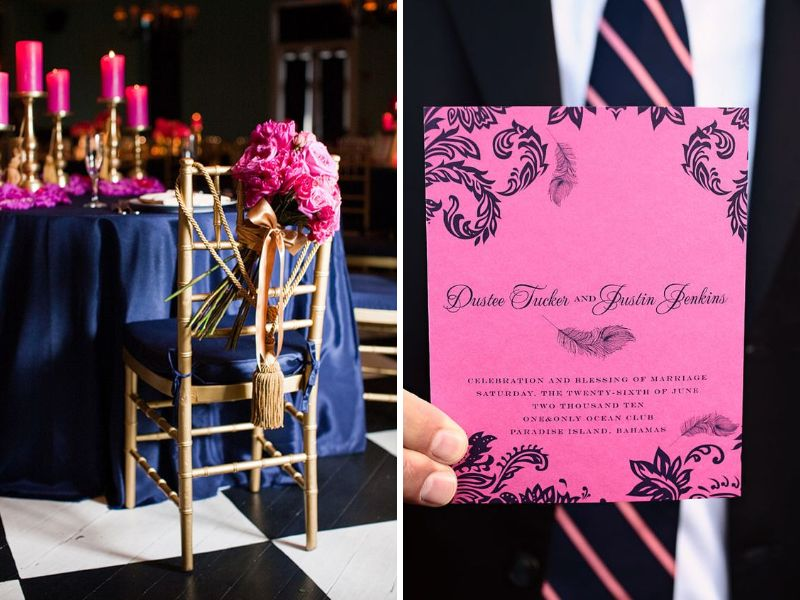 Beautiful Wedding Color Combinations With Fuchsia