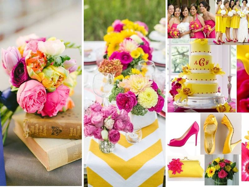 Fuchsia With Yellow And White