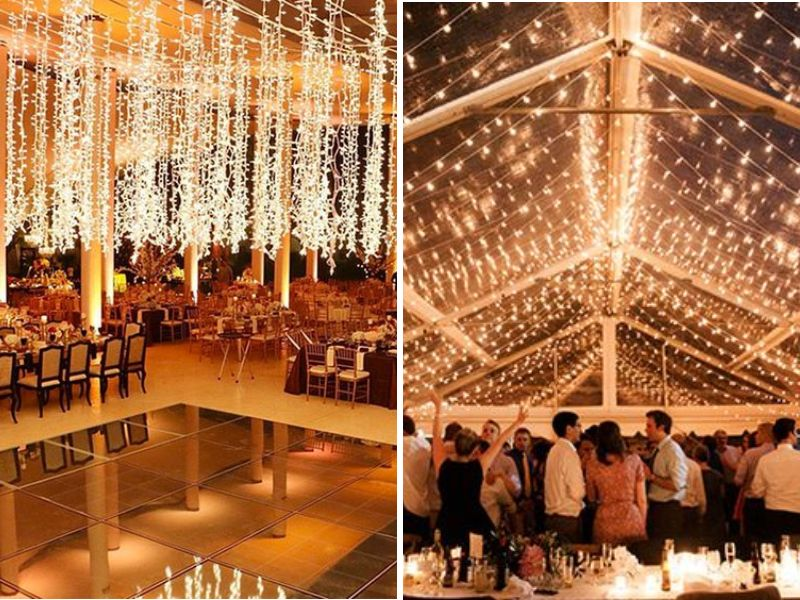 Stunning ideas for wedding ceiling decorations everafterguide just lights junglespirit Choice Image