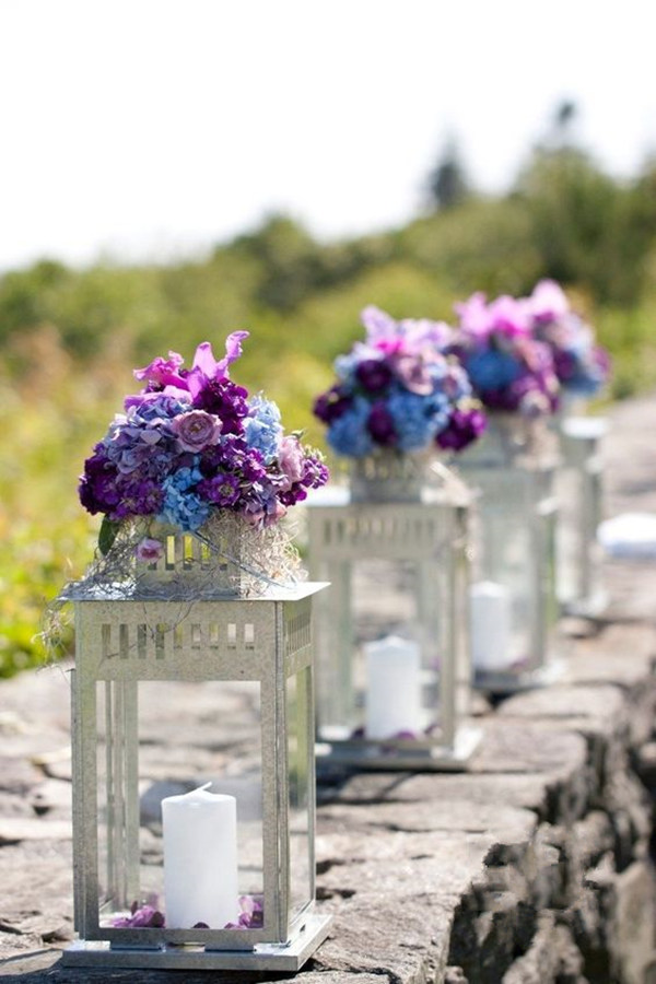 A Magical Wedding Outdoor Purple Wedding Reception Ideas