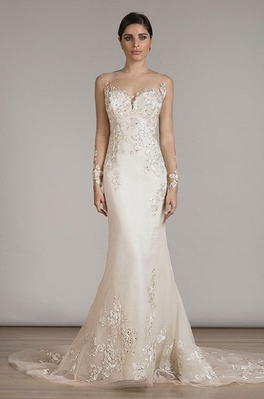 457808088a Fabulous Illusion Wedding Dresses You Will Like - EverAfterGuide