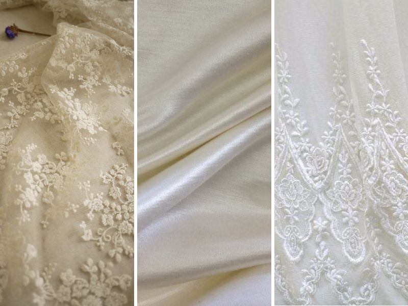 Fabric And Wedding Dress Color Aside From The White Versus Ivory