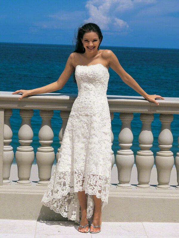 Mid Length Fitted Wedding Dresses