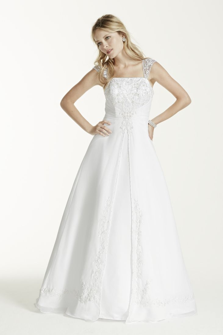 16a3d646eb48a 33 Trendiest A Line Wedding Dresses - EverAfterGuide