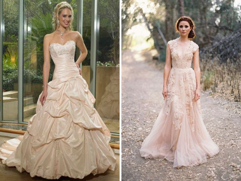 Other Wedding Dress Colors And Coordinating Skin Tones