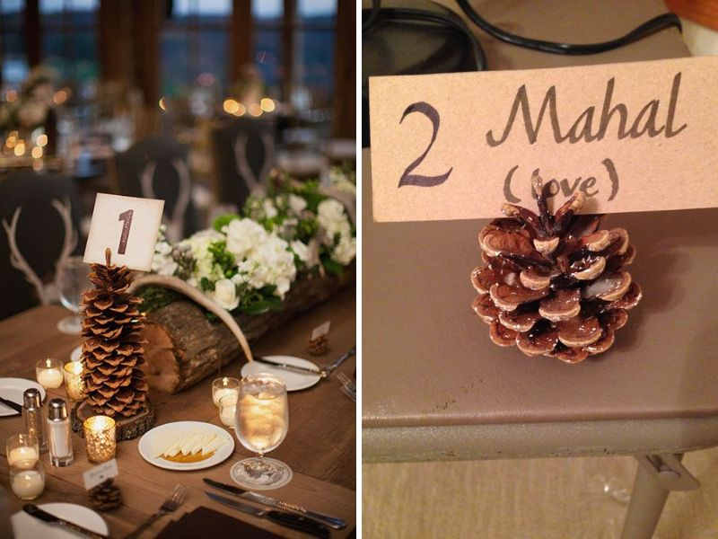 pinecones table numbers