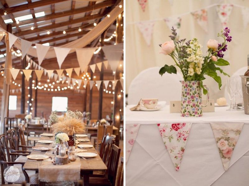 Bunting For A Vintage Wedding