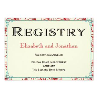 Message For Wedding Gift List : Registry Cards for Wedding: Etiquettes to FollowEverAfterGuide