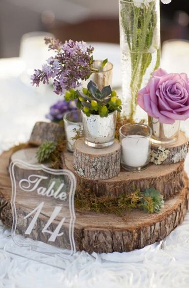 A Magical Wedding: Outdoor Purple Wedding Reception Ideas ...