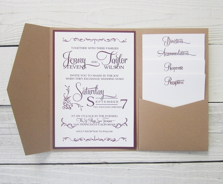 How to make pocket invitations a simple guide for Wedding invitations jacket pocket