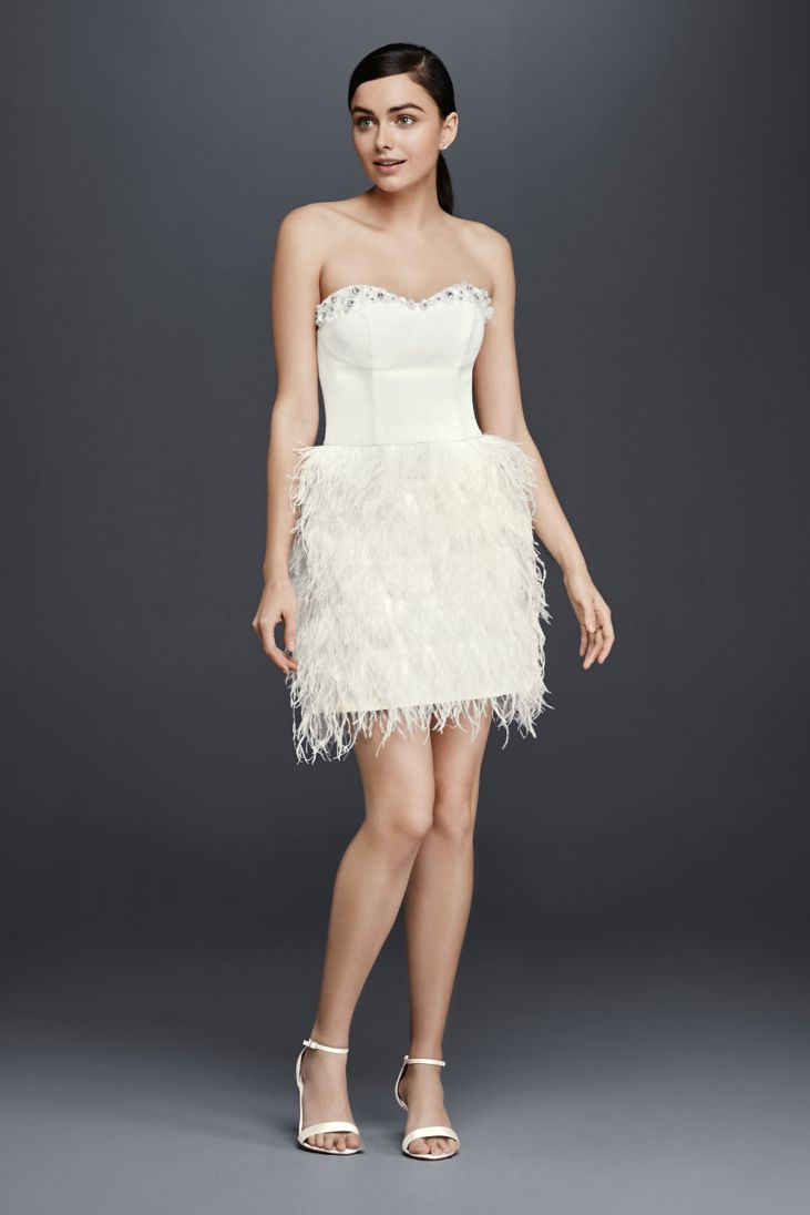 Wedding Dresses with Feathers