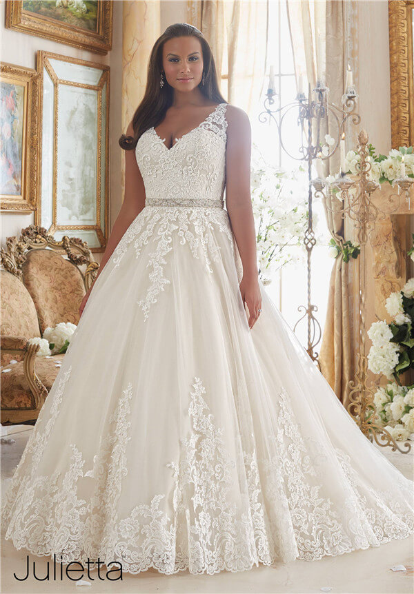 The most amazing wedding dresses for brides with big belly for Wedding dresses for big busted women