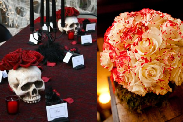 Wedding Decoration Ideas Red White And Black Table Centerpieces Everafterguide