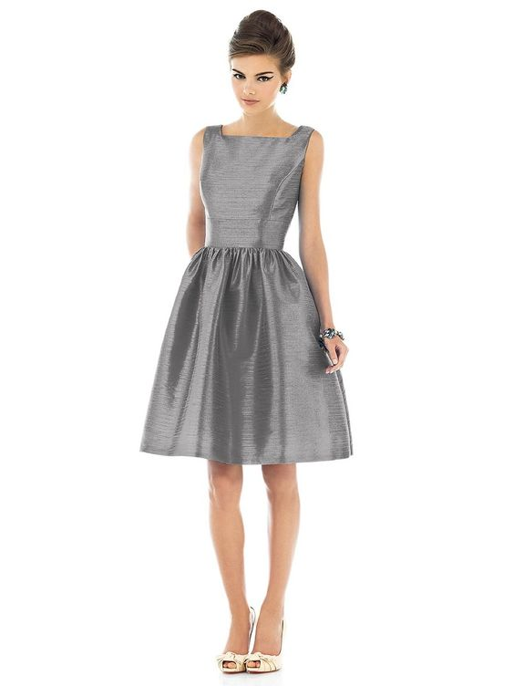30 Most Classy Silver Bridesmaid Dresses - EverAfterGuide