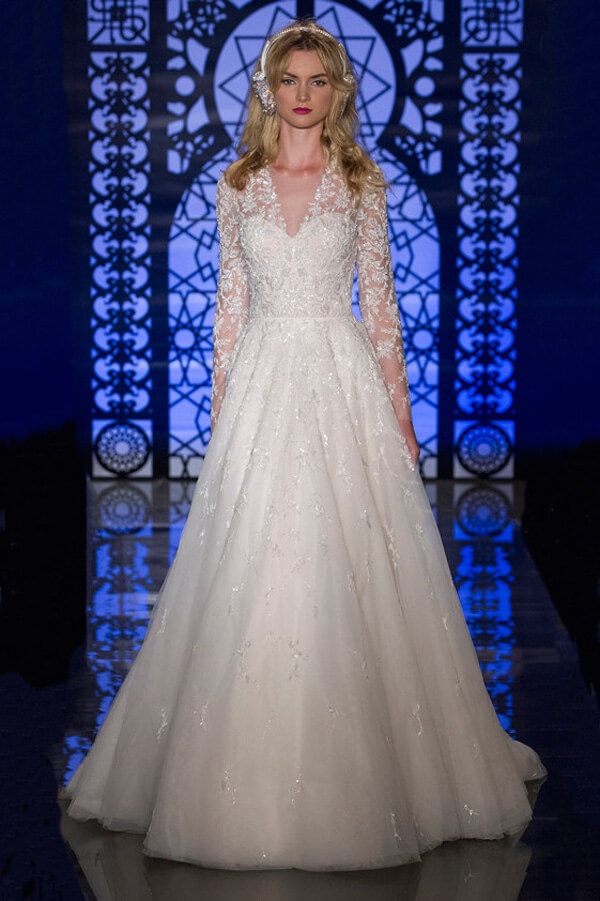 Long Sleeved Or Three Quarter Length Sleeve Wedding Dresses