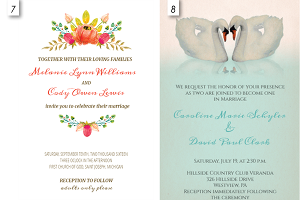 Beautiful Wedding Invitation Templates: 12 Editable Templates For Wedding Invitations