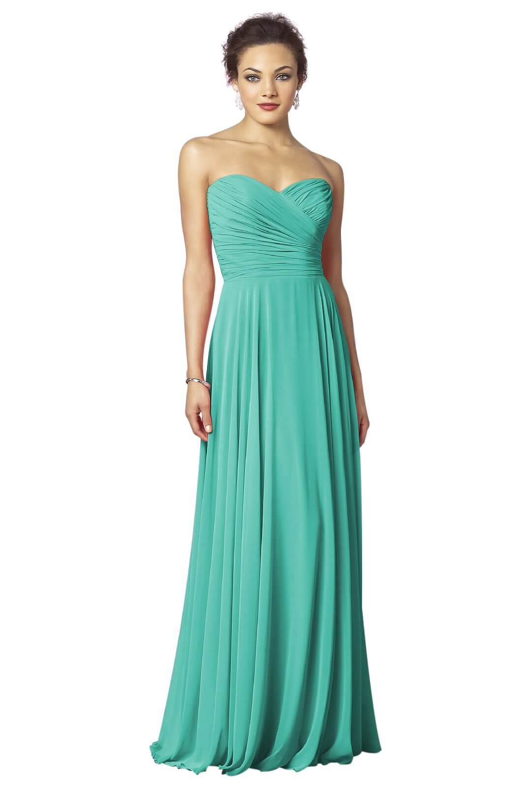 55c1eb88550d 33 Best Picks for Turquoise Bridesmaid Dresses - EverAfterGuide