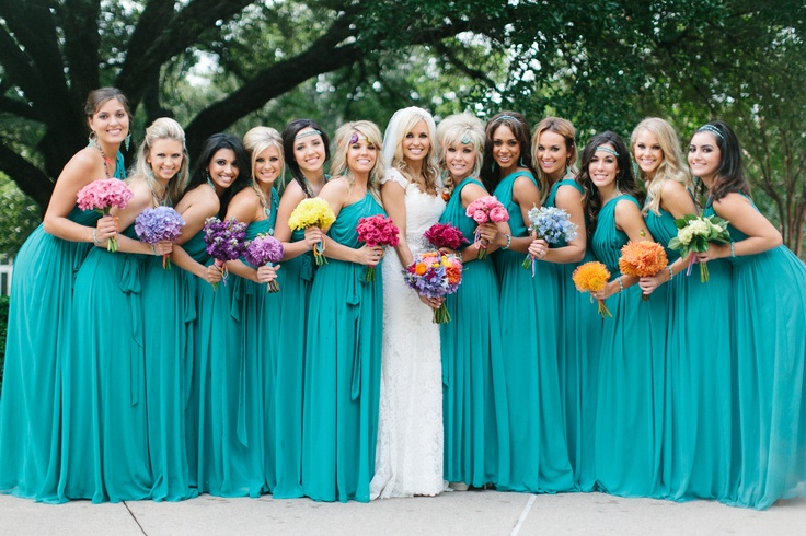 3c56a73f854 33 Best Picks for Turquoise Bridesmaid Dresses - EverAfterGuide