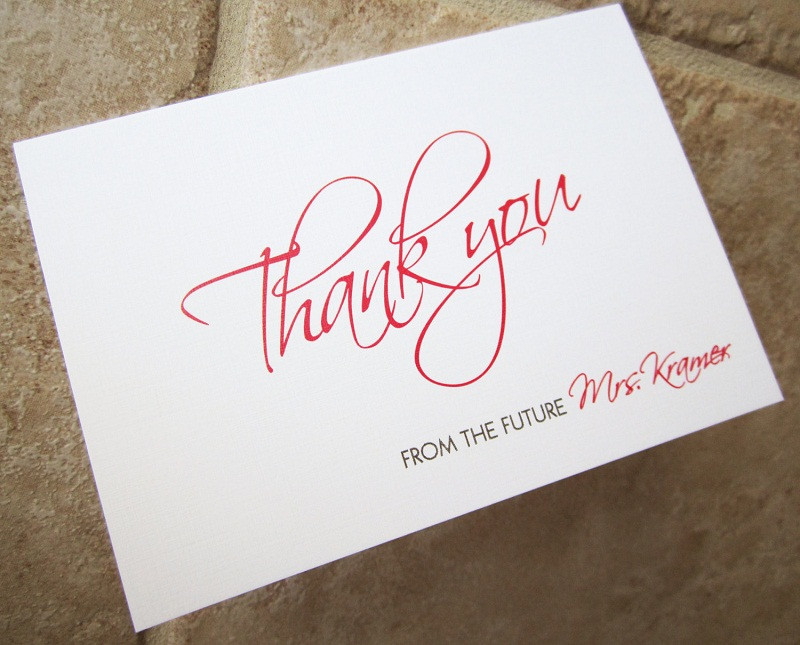 Writing Wedding Gift Thank You Cards : How to Write Bridal Shower Thank You Card