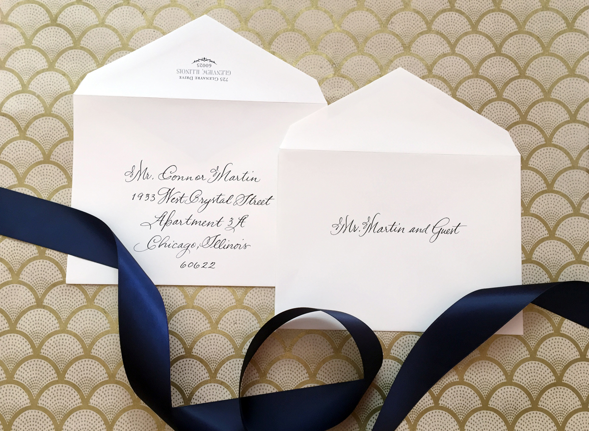 How to address wedding invitations without inner envelope the outer envelope stopboris Image collections
