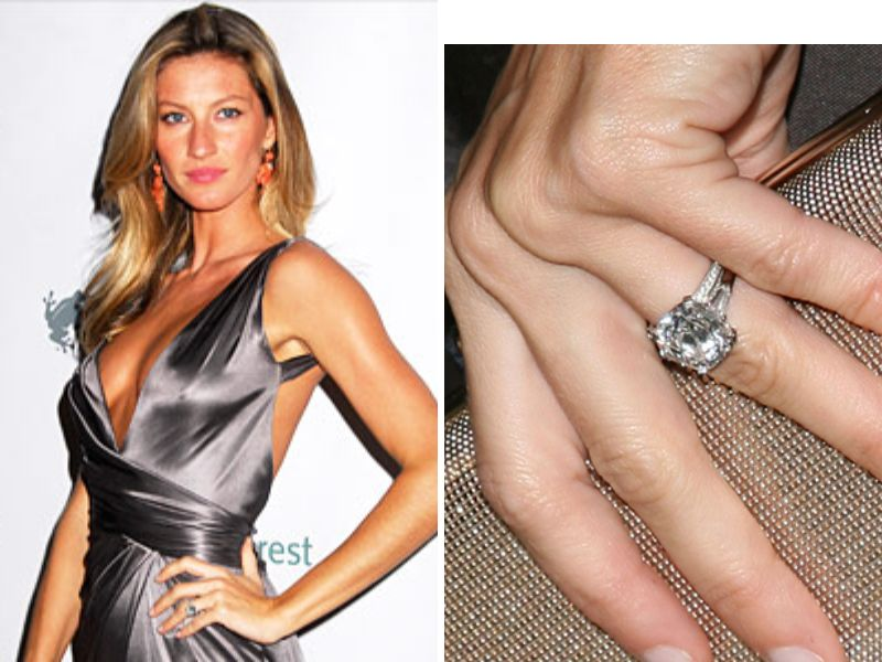 This Super Model Definitely Has A Ring Quarterback Tom Brady Gave To Bundchen In 2009 The Diamond Is Whopping 4 Carats