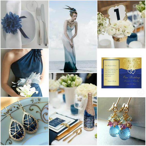 You Can Use Gold Accents On A Royal Blue Background Incorporate In Table Decors Like Plate Ware Napkins Lightings And Centerpieces