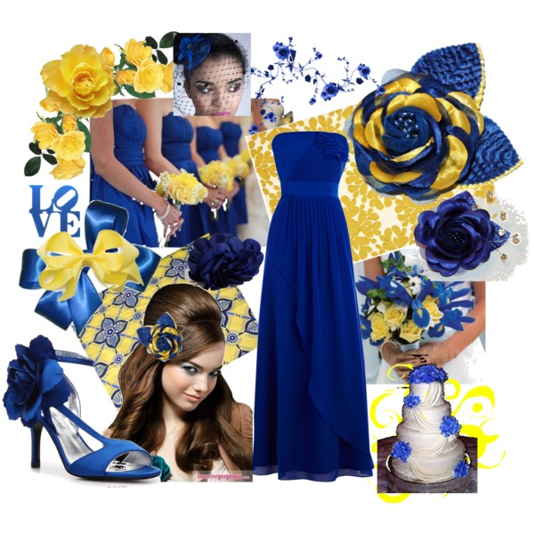 Inspirations for Blue and Yellow Wedding