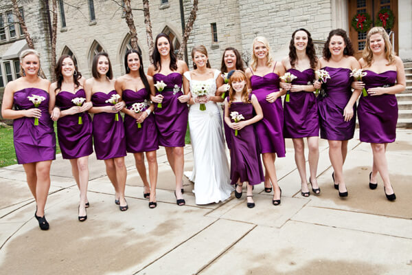 Light Purple Grey Bridesmaid Dresses