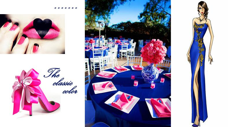Hot Pink And Blue Wedding Decorations. Home Design. Home Design Ideas